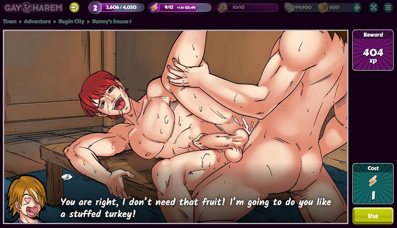 Yaoi dude butt sex in Gay Harem hentai game